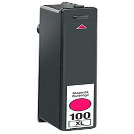 100 - Cartouche d'encre équivalent LEXMARK 100XL 14N1068E compatible MAGENTA XL