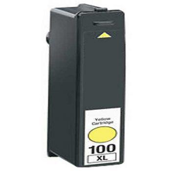 100 - Cartouche d'encre équivalent LEXMARK 100XL 14N1071E compatible JAUNE XL