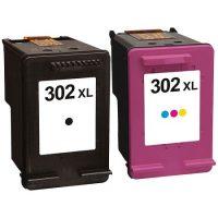 302 - Cartouche d'encre équivalent HP 302XL compatible (HP302) PACK 2 CARTOUCHES - NOIR XL / TRICOLOR XL
