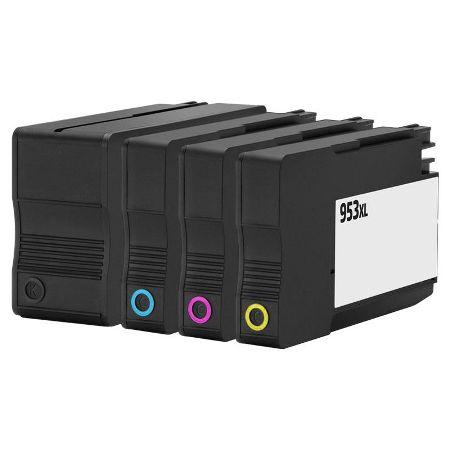 953 - Cartouche d'encre équivalent HP-953XL compatible PACK (HP953) 4 COULEURS XL
