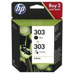 303 – HP 303 noir et couleur – Pack de 2 cartouches HP 3YM92AE