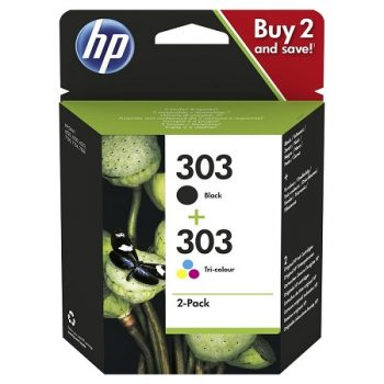 303 - HP 303 noir et couleur - Pack de 2 cartouches HP 3YM92AE