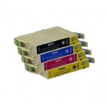 """0556 - Cartouche d'encre équivalent EPSON T0556 compatible """"Canard"""" PACK 4 CARTOUCHES - 4 COULEURS"""