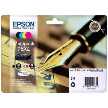 Cartouche d'encre EPSON T1636 Originale « Stylo plume » Multipack 4 Couleurs XL