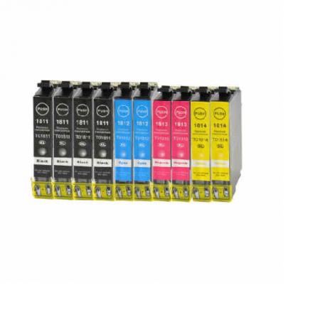1816 - Cartouche d'encre équivalent EPSON T1816 compatible X 10 « Pâquerette » PACK 4 COULEURS XL - 10 CARTOUCHES