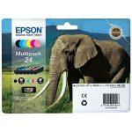 2438 - Cartouche d'encre  EPSON T2438 Originale« Eléphant » Pack 6 Couleurs XL