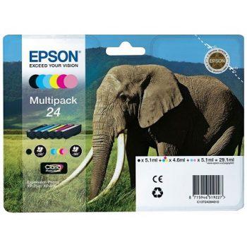 Cartouche d'encre EPSON T2438 Originale« Eléphant » Pack 6 Couleurs XL