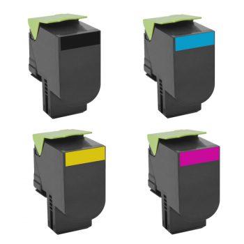 540 - Toner laser équivalent LEXMARK C540 PACK compatible C540H1KG-C540H1CG-C540H1MG-C540H1YG PACK 4 COULEURS