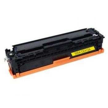 305 - Toner laser équivalent HP-305A compatible CE412A (HP305) TONER JAUNE