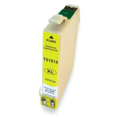 1814 - Cartouche d'encre équivalent EPSON T1814 compatible « Pâquerette » JAUNE XL