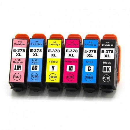 378 - Cartouches EPSON compatibles T3798 - 378XL Pack 6 cartouches en XL