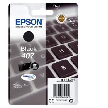 407 - Cartouche Originale Epson 407 Noire (série clavier) C13T07U140