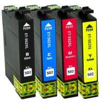 502 – Cartouches EPSON compatibles 502 XL ( série jumelles) Pack 4 cartouches en XL