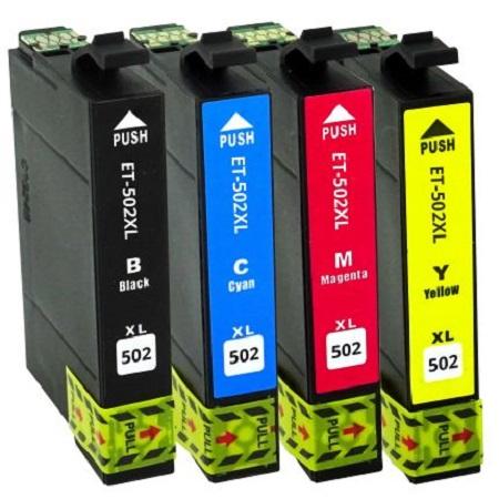 502 - Cartouches EPSON compatibles 502 XL ( série jumelles) Pack 4 cartouches en XL
