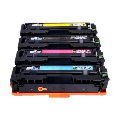 201 - Toner laser équivalent HP-201X compatible CF400-CF401-CF402-CF403 (HP201) PACK 4 COULEURS