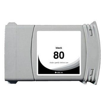 Cartouche d'encre équivalent HP 80 compatible C4871A (HP80) Noir 350 Ml