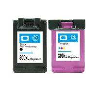 300 - Cartouche d'encre équivalent HP 300XL-CC644EE compatible (HP300) PACK 2 CARTOUCHES - NOIR XL / TRICOLOR XL