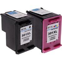 301 – Cartouche d'encre équivalent HP-301XL-N9J72AE compatible (HP301) PACK 2 CARTOUCHES – NOIR XL / TRICOLOR XL