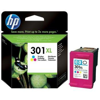 HP 301XL Cartouche d'encre Trois couleurs (Cyan,Magenta,Jaune) grande capacité originale (CH564EE)