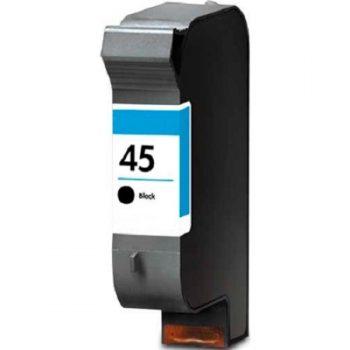 Cartouche d'encre équivalent HP 45 compatible 51645AE (HP45) Noire