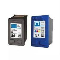 56/57 – Cartouche d'encre équivalent HP 56/57 compatible C6656A-C6657A (HP56-57) NOIR + TRICOLOR