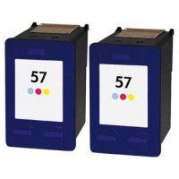 57 – Cartouche d'encre équivalent HP 57 compatible C6657A X 2 (HP57) TRICOLOR X 2