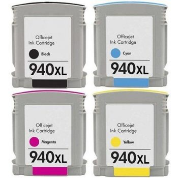 940 - Cartouche d'encre équivalent HP-940XL-C2N93AE compatible (HP940) PACK 4 CARTOUCHES XL
