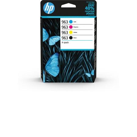 HP 963 - Pack de 4 cartouches HP 6ZC70AE noir et couleurs