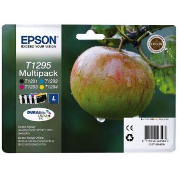 Cartouche d'encre EPSON T1295 Originale « Pomme » Pack 4 Couleurs