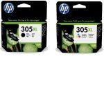 305 - Multipack originale HP 305XL Noir et Couleur (3YM62AE/3YM63AE)