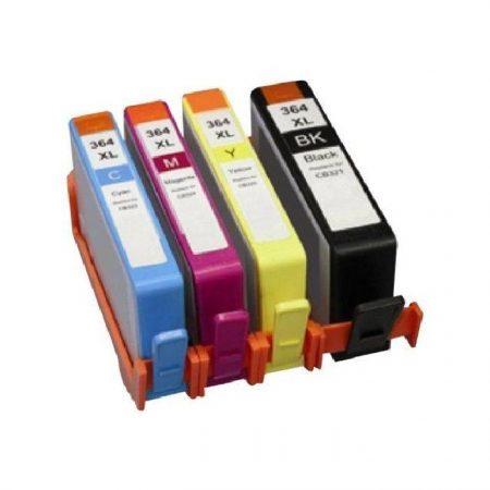 364 – Cartouche d'encre équivalent HP-364XL compatible (HP364) PACK 4 CARTOUCHES XL