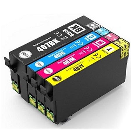 EPSON 407 Compatible ( série clavier) Pack 4 Cartouches XL