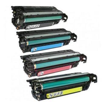 647 - Toner laser équivalent HP-647X - CE260-CE261-CE262-CE263 (HP647) compatible PACK 4 COULEURS