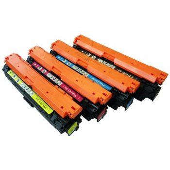 307 - Toner laser équivalent HP-307A - CE740-CE741-CE742-CE743 (HP307) compatible PACK 4 COULEURS