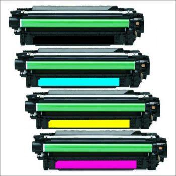 507 - Toner laser équivalent HP-507X - CE400-CE401-CE402-CE403 (HP507) compatible PACK 4 COULEURS