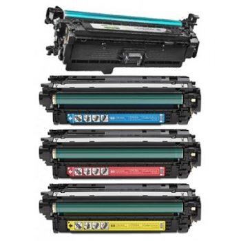 646 - Toner laser équivalent HP-646A - CE264X-CF031-CF032-CF033 (HP646) compatible PACK 4 COULEURS