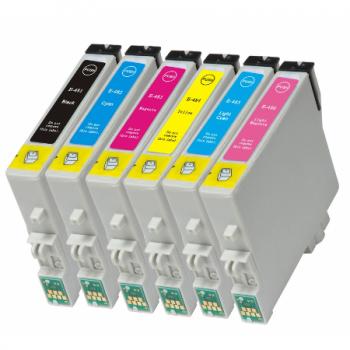0487 - Cartouche d'encre équivalent EPSON T0487 compatible « Hippocampe » PACK 6 CARTOUCHES - 6 COULEURS