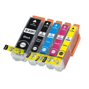 3357 - Cartouche d'encre équivalent EPSON T3357 XL compatible « Oranges » PACK 5 CARTOUCHES XL