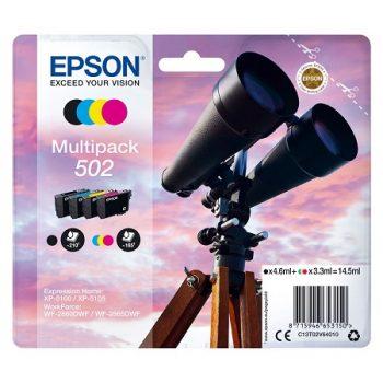 Cartouches EPSON Originales 502 ( série jumelles) Pack 4 cartouches