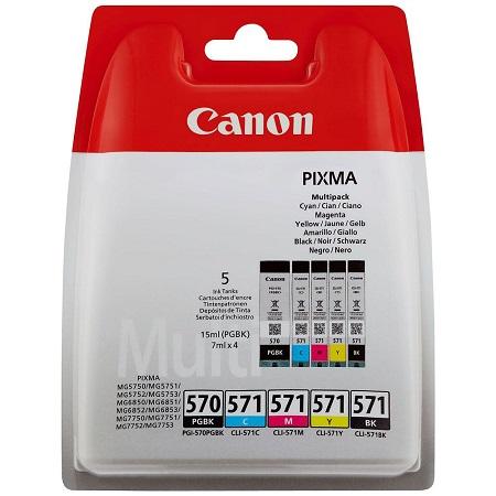 Multipack de cartouches d'encre Canon PGI-570BK / CLI-571 BK/C/M/Y 0372C004