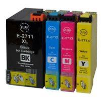 2715/2711 – Cartouche d'encre équivalent EPSON T2715XL / T2711XL compatible  « Réveil » PACK 4 COULEURS XL