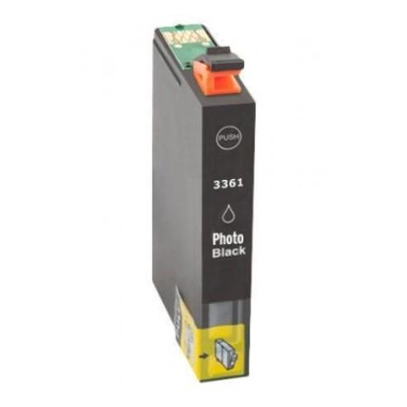 3361 - Cartouche d'encre équivalent EPSON T33XL-T3361 compatible « Oranges » NOIR PHOTO XL